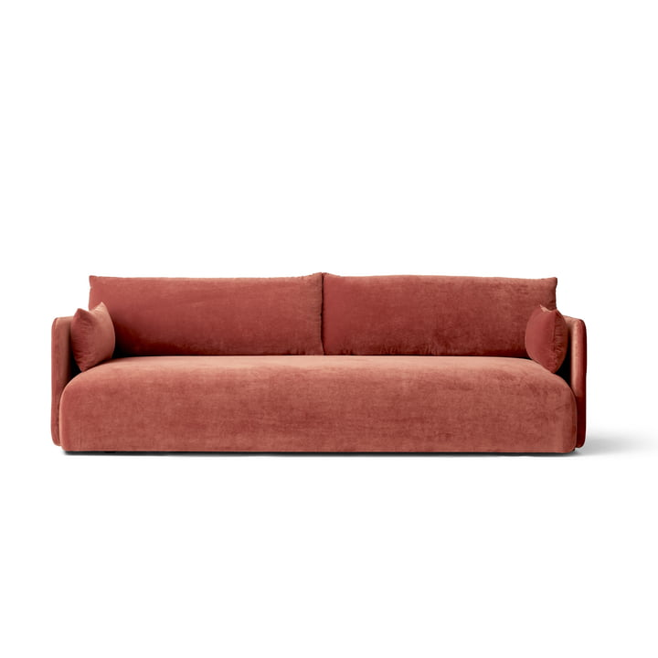 Offset Sofa, 3-Sitzer, samt rot (city velvet CA7832-062) von Menu