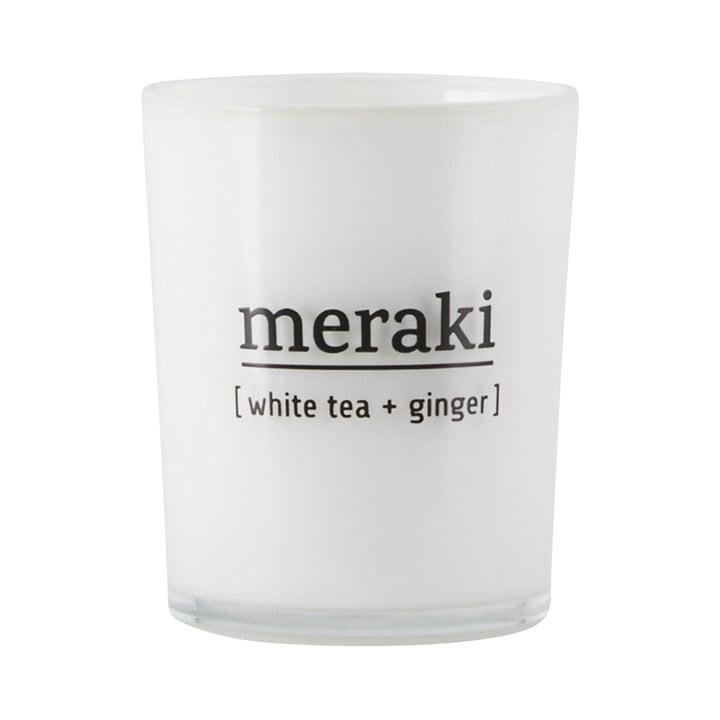 Die Duftkerze White Tea & Ginger von Meraki, Ø 5,5 cm