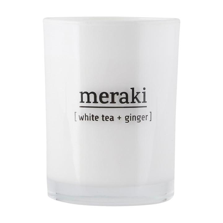 Die Duftkerze White Tea & Ginger von Meraki, Ø 8 cm