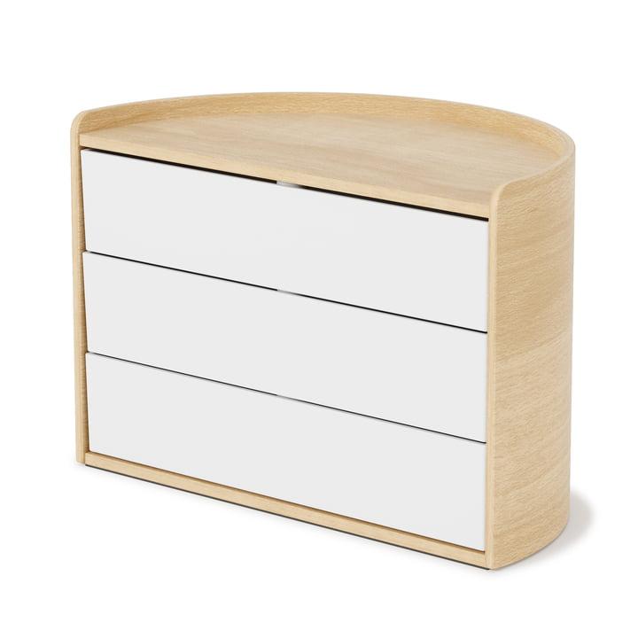 Die Moona Aufbewahrungsbox von Umbra in weiß / natur