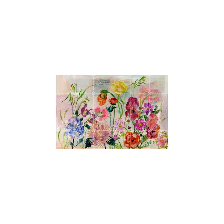 Das Flowers Garden Wandbild von IXXI, 120 x 80 cm