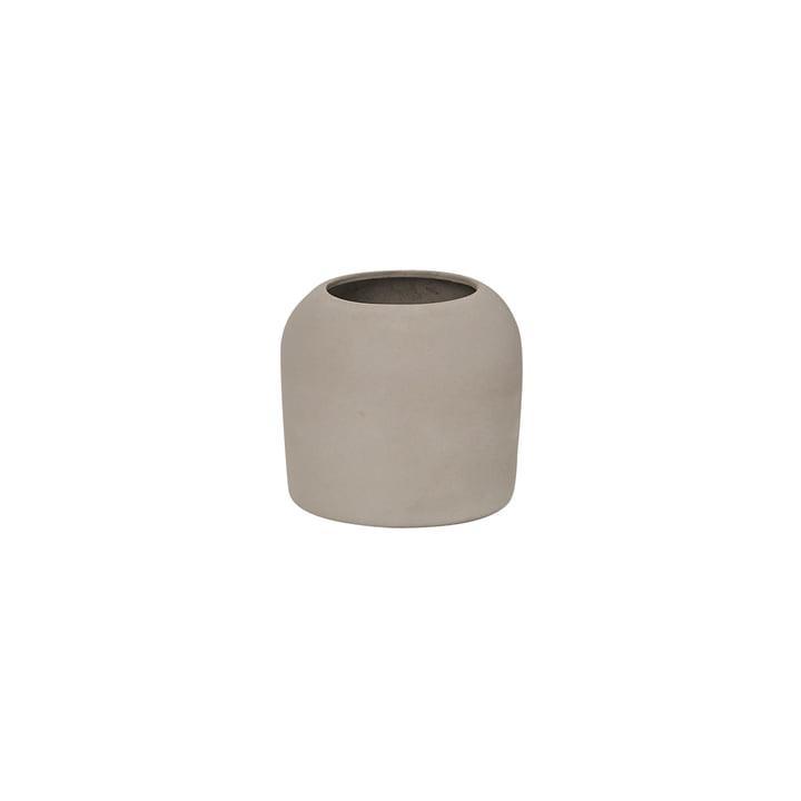 Dome Vase XS Ø 16 x H 14 cm, grau von Kristina Dam Studio