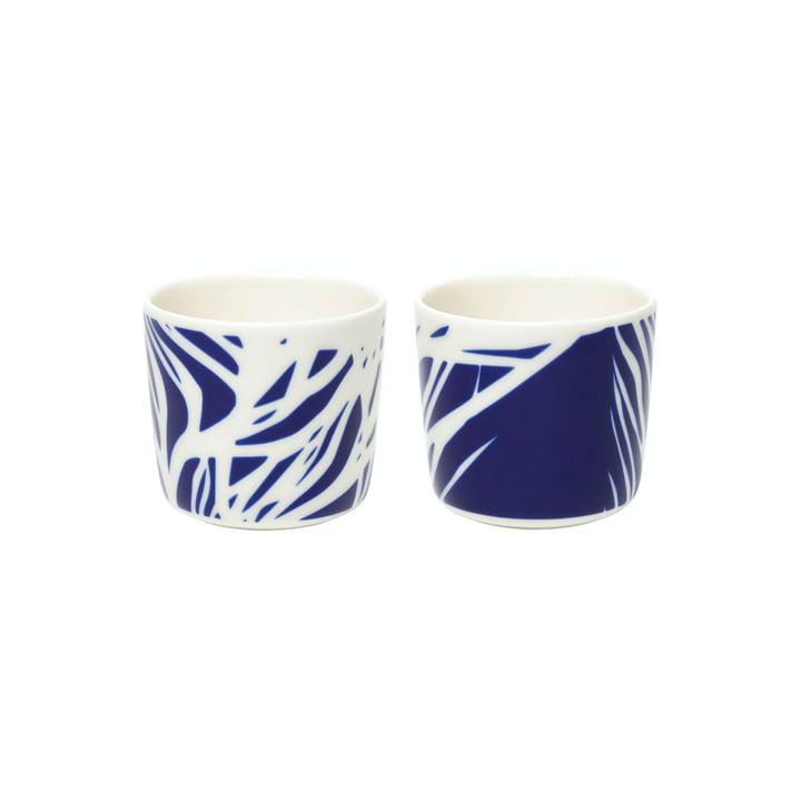 Die Ruudut Becher von Marimekko (2er-Set), 200 ml, weiß / blau