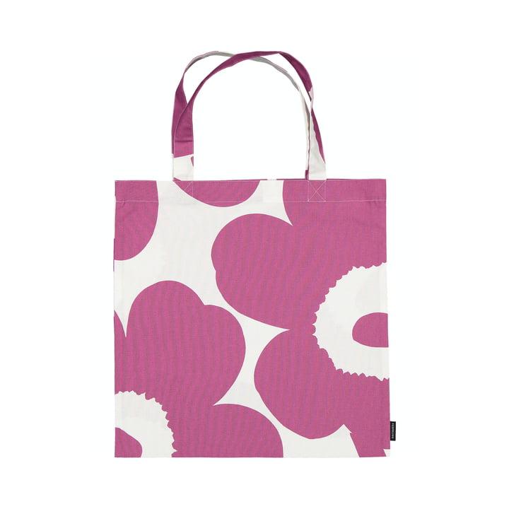 Die Unikko Einkaufstasche von Marimekko in pink / weiß