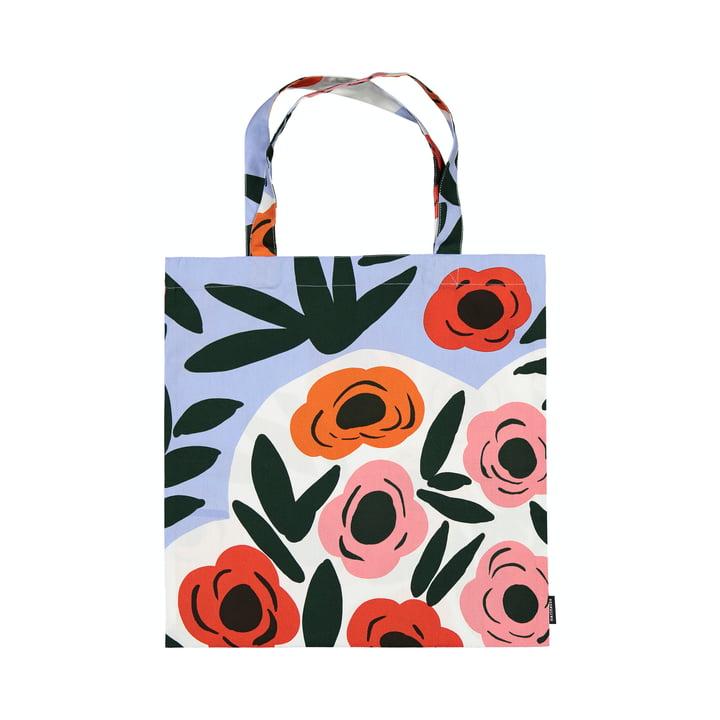 Die Ruukku Einkaufstasche von Marimekko, hellblau / rot / dunkelgrün