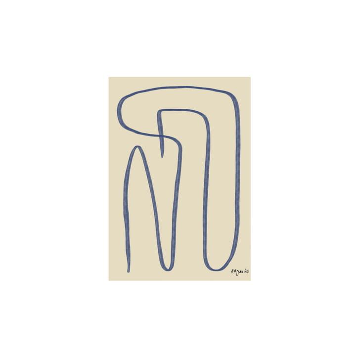 Different Ways Poster 30 x 40 cm, blau von Paper Collective