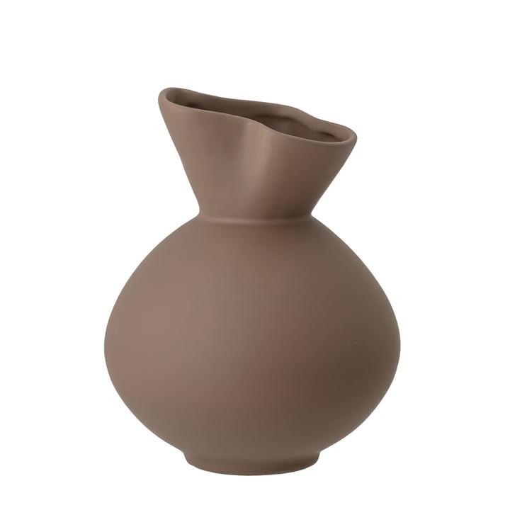 Die Nica Vase von Bloomingville in braun, H 20 cm,
