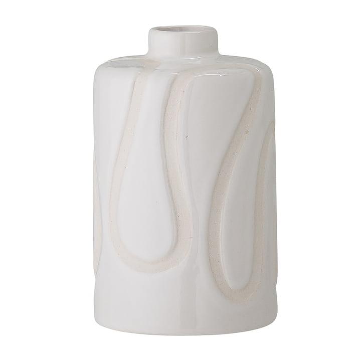 Die Elice Vase von Bloomingville in weiß, H 13 cm