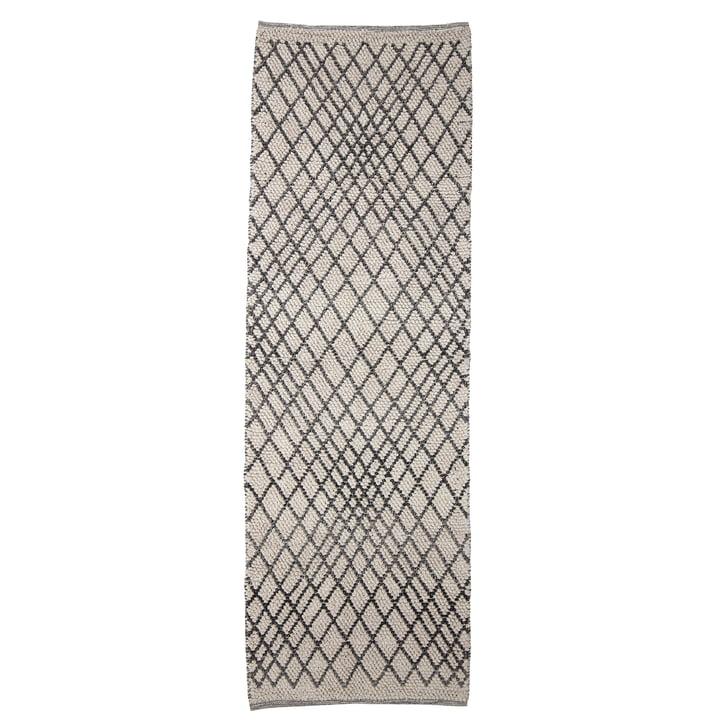 Der Kaya Teppich von Bloomingville, 250 x 80 cm, grau