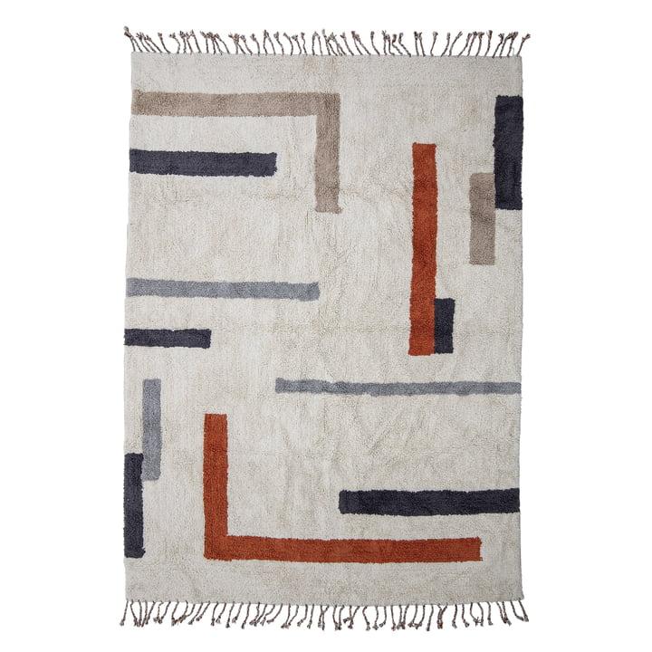 Der Jue Teppich von Bloomingville, 200 x 140 cm, natur