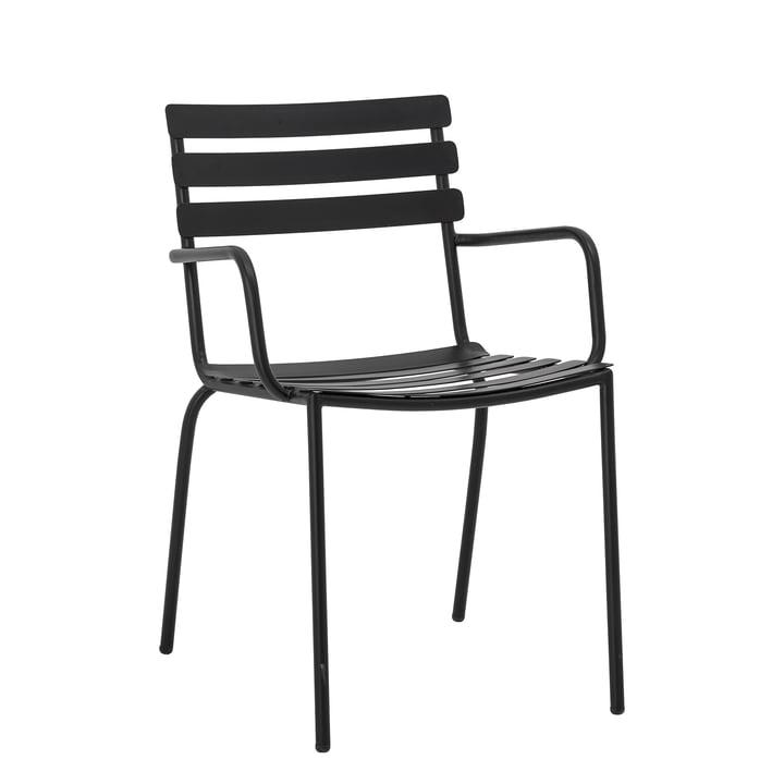 Monsi Outdoor Armlehnstuhl von Bloomingville in schwarz