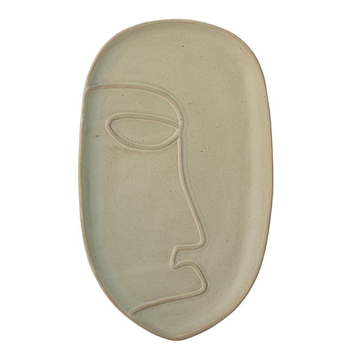 Das Ngan Tablett von Bloomingville in grün 18,5 x 30 cm, grün