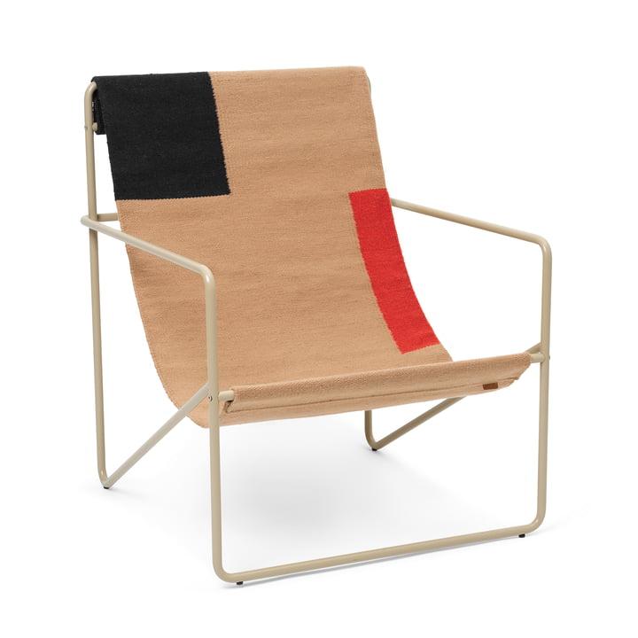 Der Desert Lounge Chair von ferm Living in cashmere / block