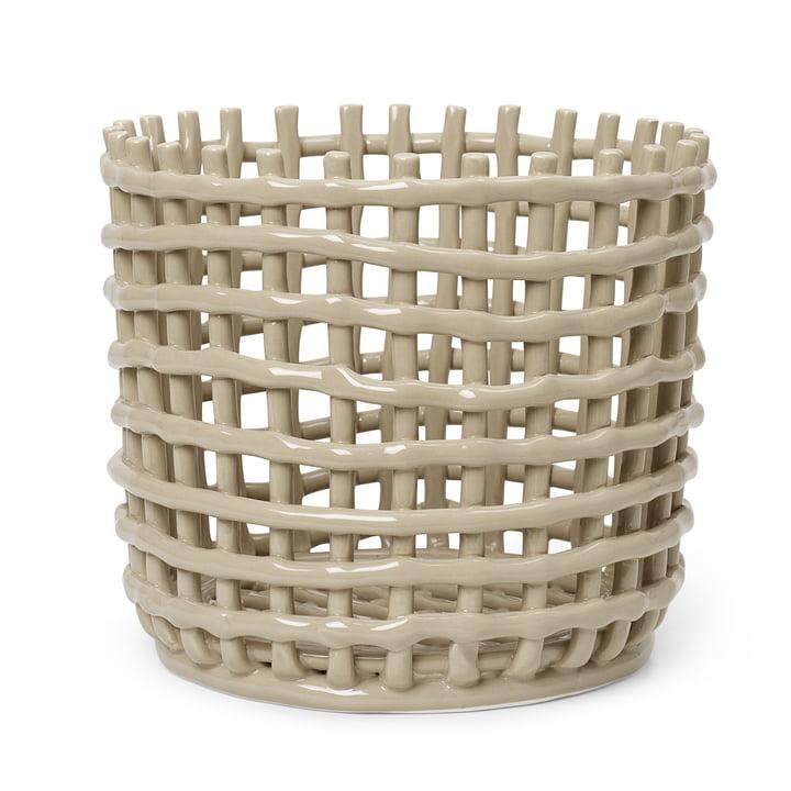Der große Keramik Korb von ferm Living in cashmere