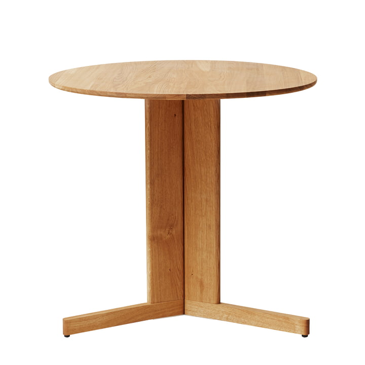 Trefoil Tisch, Ø 75 cm, Eiche von Form & Refine