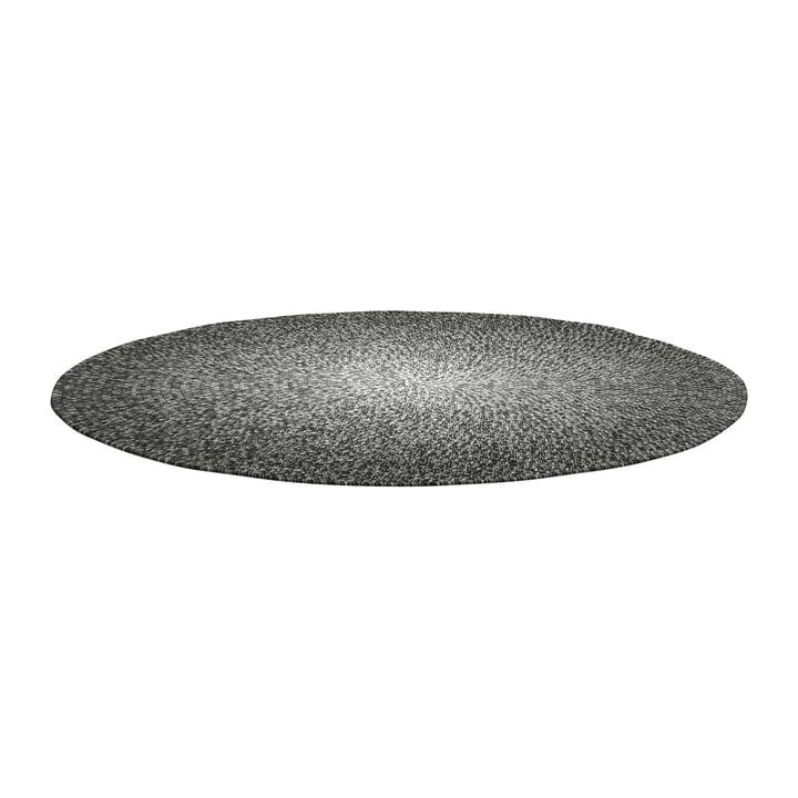 Der Deco Teppich Outdoor von Gloster, Ø 140 cm, graphite ombre