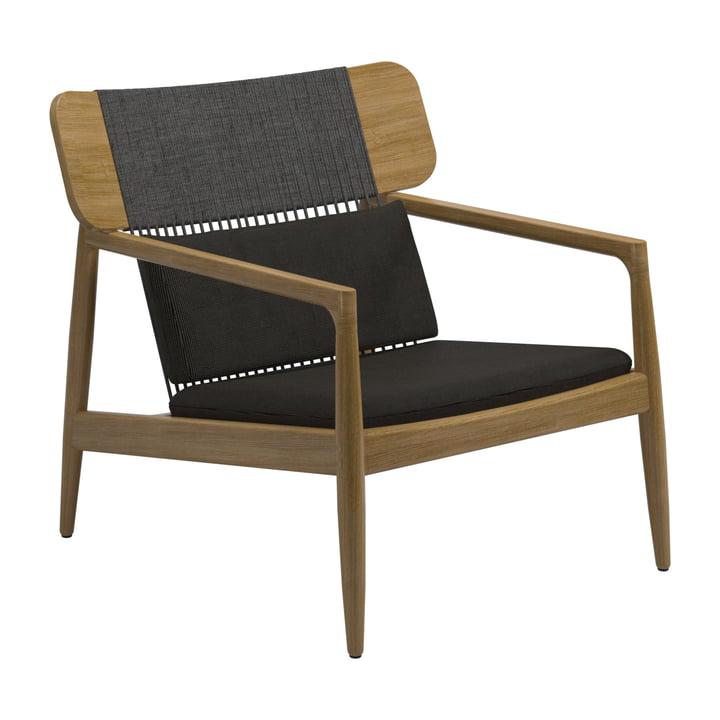 Der Archi Lounge Sessel von Gloster, Teak / schwarz