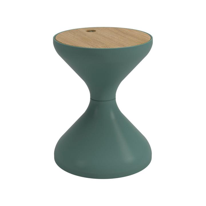 Der Bells Beistelltisch von Gloster, Ø 40 x H 50,5 cm, Teak / jadegrün