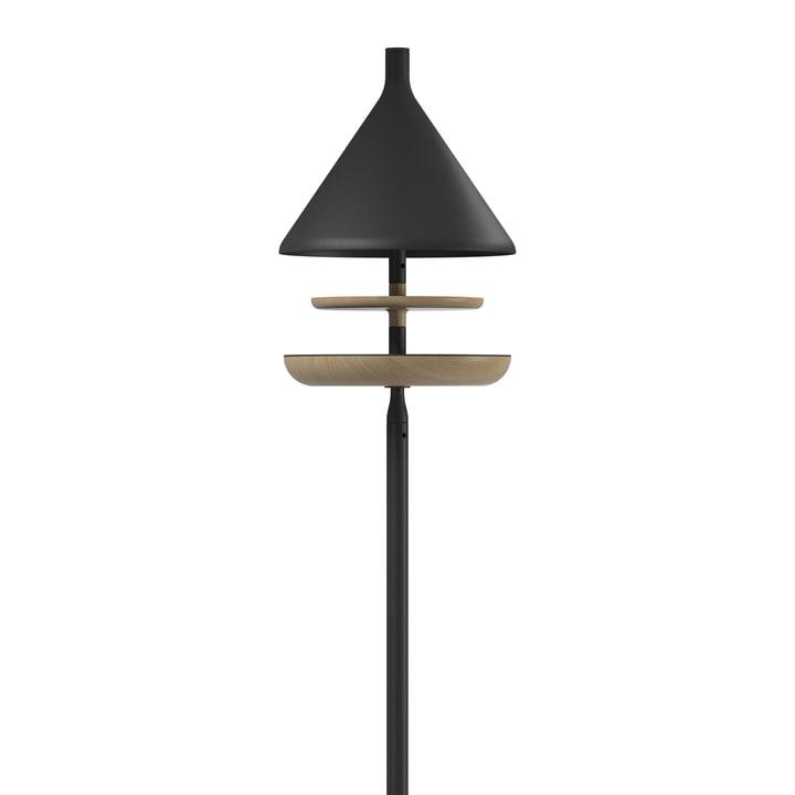 Die Deco Vogelfutterstelle mit Säule von Gloster, Teak / meteor