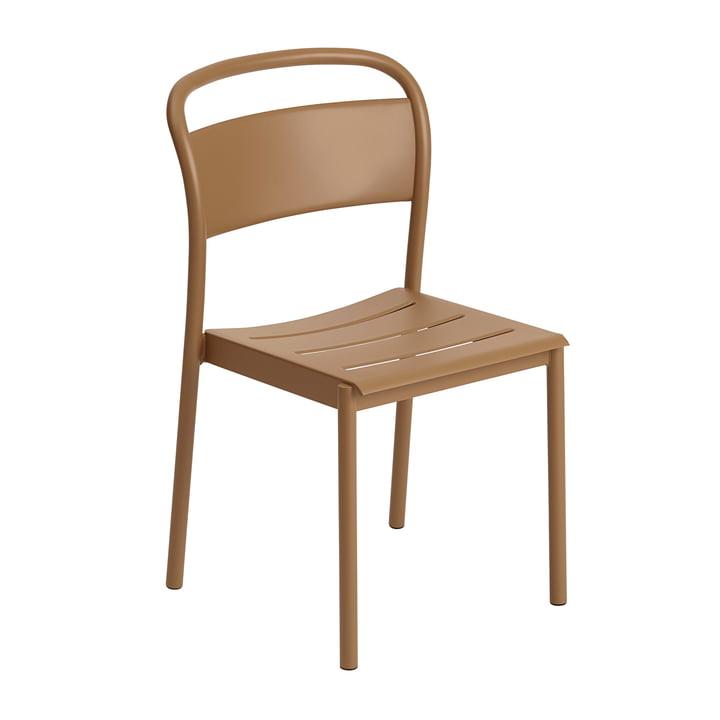 Der Linear Steel Side Chair von Muuto, burnt orange