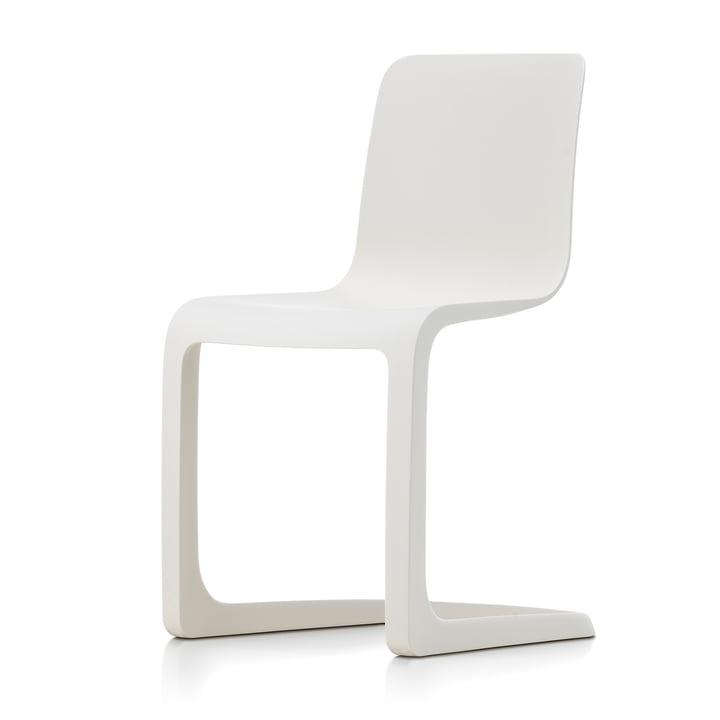 EVO-C Vollkunststoff-Stuhl, elfenbein von Vitra