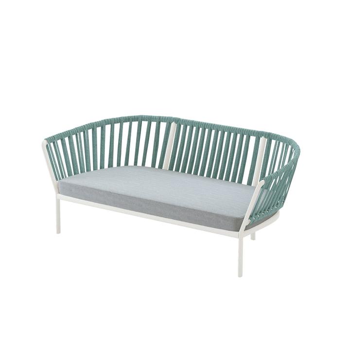 Das Ria Sofa von Fast, 2-Sitzer, cremeweiß / mintgrün / hellgrün