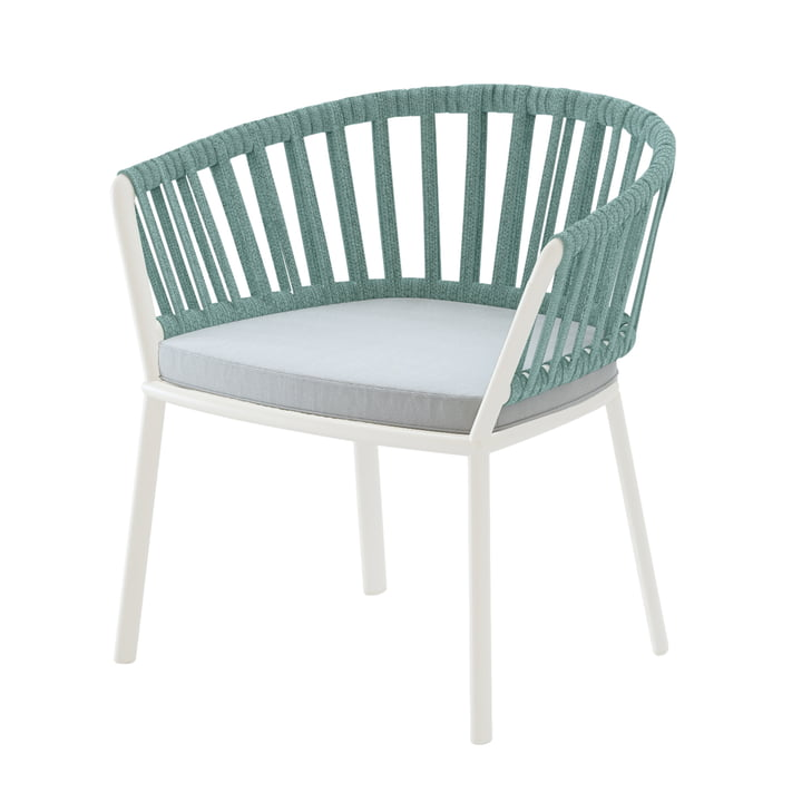 Ria Lounge-Sessel, cremeweiß / mintgrün / hellgrün von Fast