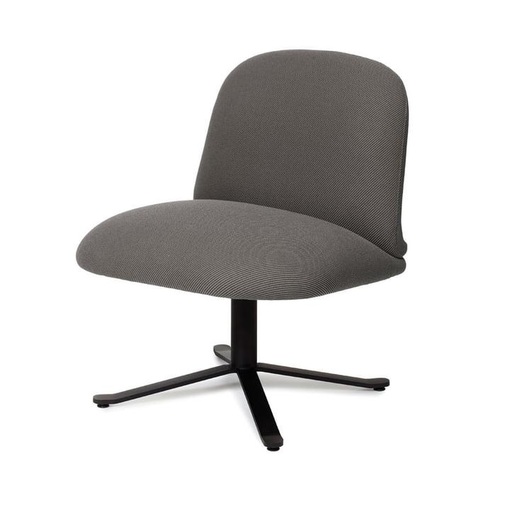 Optum Lounge Stuhl, graphitschwarz (RAL 9011) / dunkelgrau (Camira Oceanic OOC08) von Puik