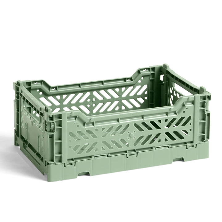 Der Colour Crate Korb S von Hay, 26,5 x 17 cm, dusty green