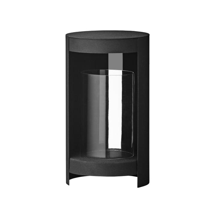 Das Ora Windlicht von AYTM, Ø 15,5 x H 28,2 cm, schwarz