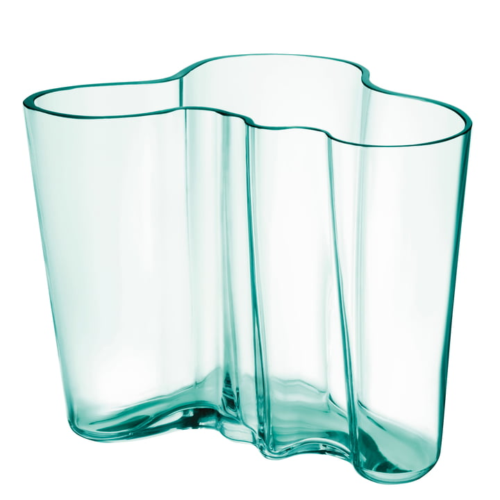 Aalto Vase Savoy 160 mm von Iittala in water green (Jubiläumsedition 2021)