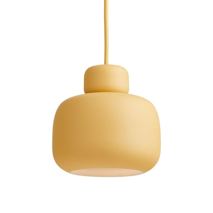 Stone Pendelleuchte Ø 16 cm von Woud in mustard