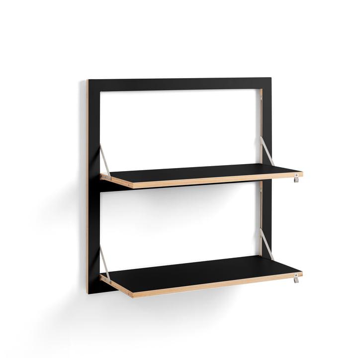 Fläpps Regal 80 x 80 cm mit 2 Regalböden von Ambivalenz in schwarz