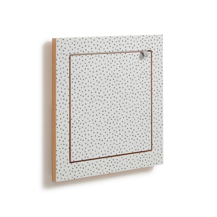 Fläpps Regal, 40 x 40 cm, 1 Regalboden von Ambivalenz in Watercolor Dots by Kind of Style