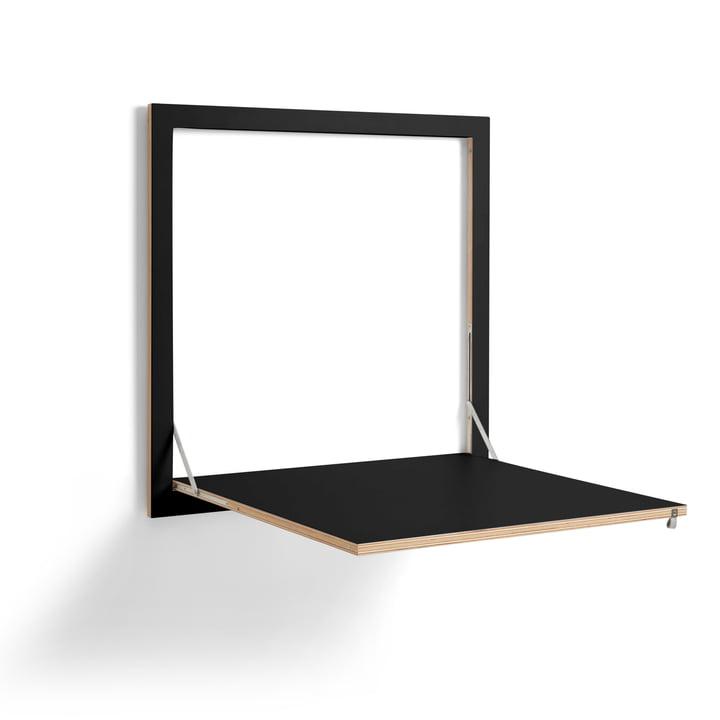 Fläpps Kittchen Tisch 80 x 80 cm von Ambivalenz in schwarz