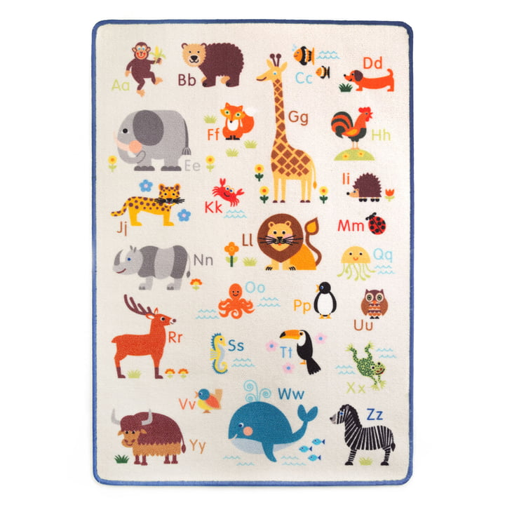 Der Spielteppich Tier ABC von byGraziela, 90 x 130 cm