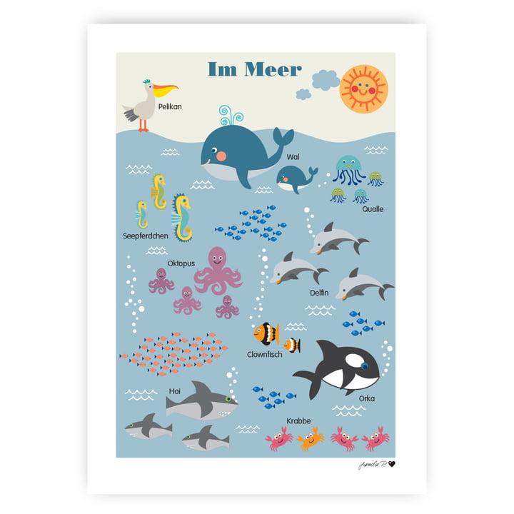 Das Meerestiere Poster von byGraziela, 50 x 70 cm