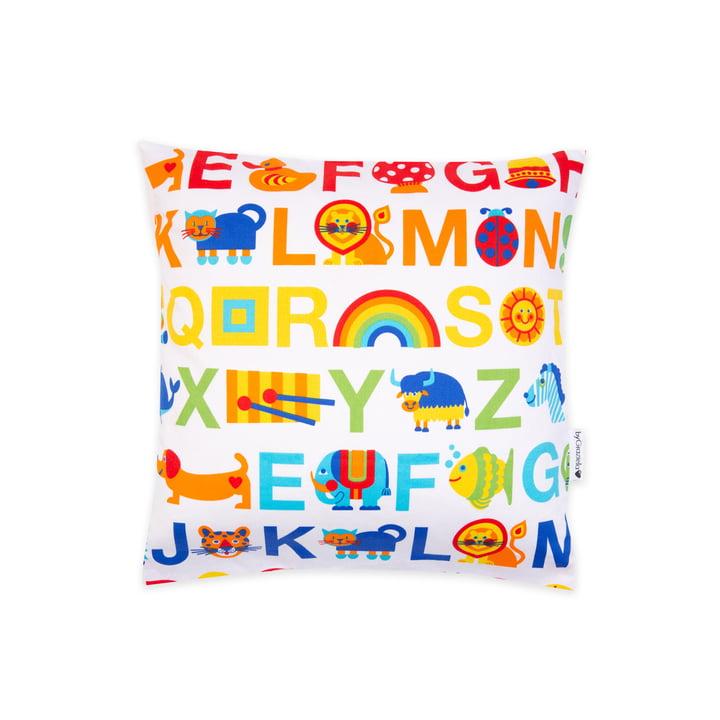 Der Kissenbezug ABC Regenbogen von byGraziela, 40 x 40 cm, mehrfarbig