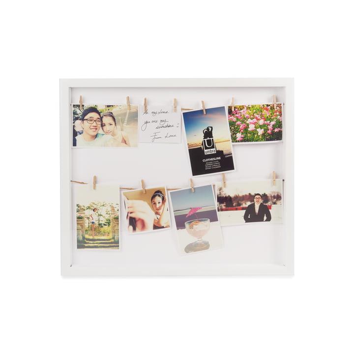 Clothesline Bilderrahmen von Umbra in weiß