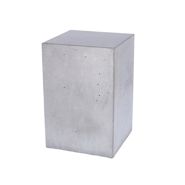 Der Block Beton Beistelltisch von Jan Kurtz, Höhe 46 cm, gewachst