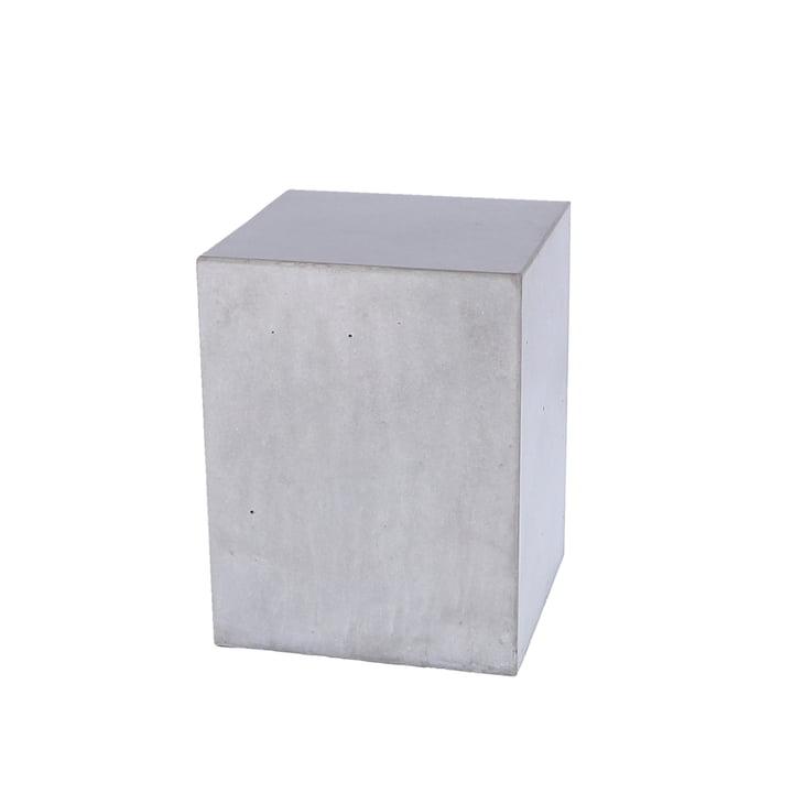 Der Block Beton Beistelltisch von Jan Kurtz, Höhe 40 cm, gewachst