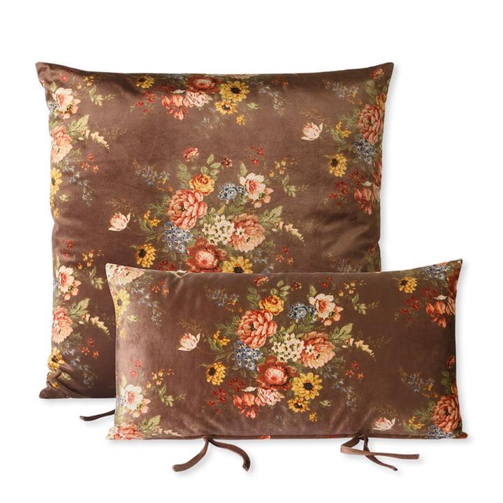 Das Lounge Sofa Kissen Set von HKliving, floral / braun
