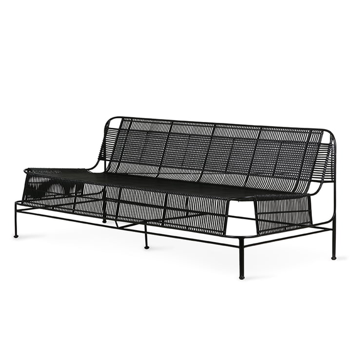 Das Outdoor Lounge Sofa von HKliving, schwarz
