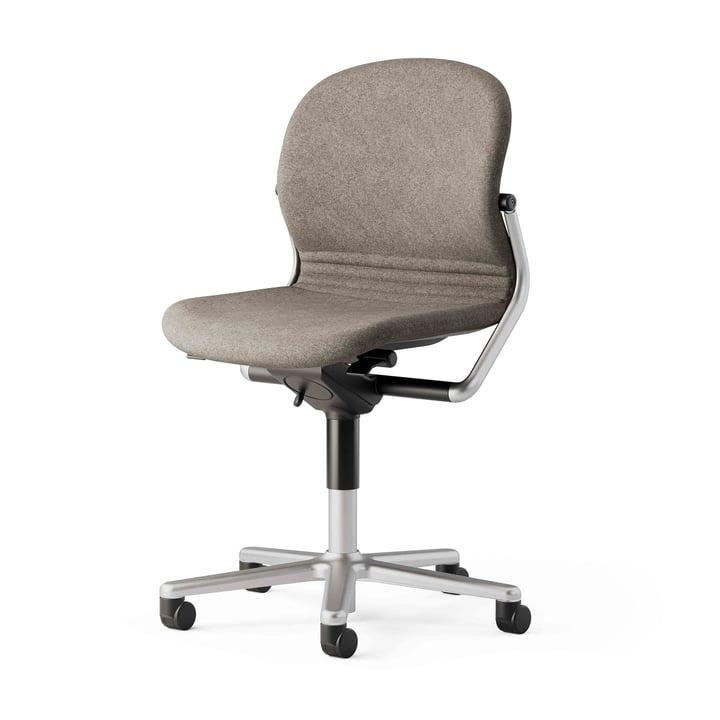Der FS 211/8 Bürostuhl ohne Armlehnen von Wilkhahn, weiß / beige