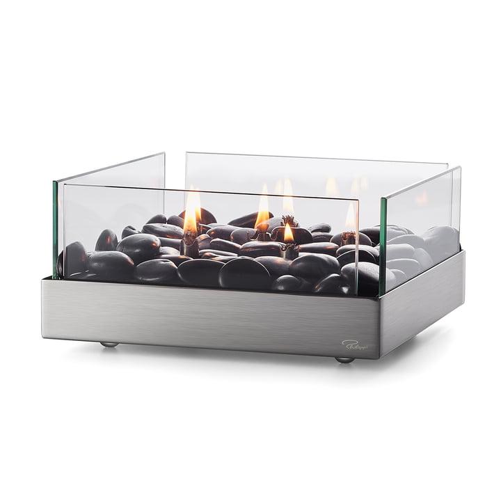 Fireplace Tischkamin 23 x 23 cm von Philippi in silber / schwarz
