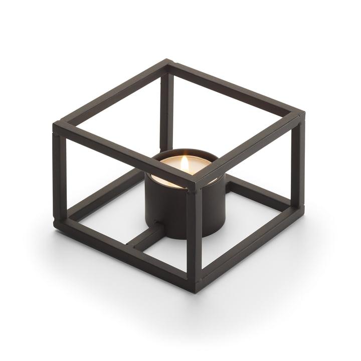 Cubo Teelichthalter für 1 Teelicht 10 x 10 cm von Philippi in schwarz
