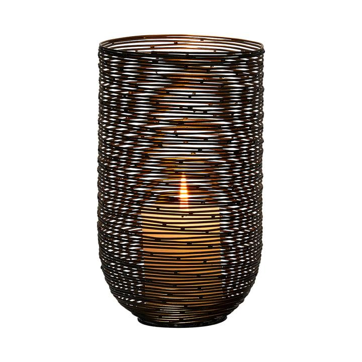 Windhuk Windlicht L von Philippi in schwarz / gold