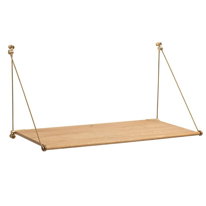 Loop Desk von We Do Wood in Eiche natur / Messing