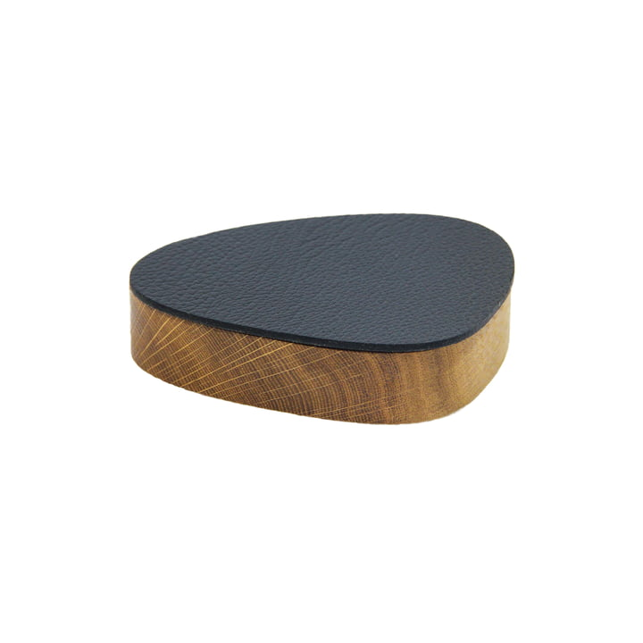 Wood Box mit Deckel curve S 12.5 x 14 cm von LindDNA in Eiche natur / schwarz