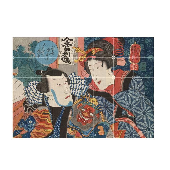 Bando Shuka von Utagawa Kuniyoshi als Wandbild von IXXI in der Größe 140 x 100 cm